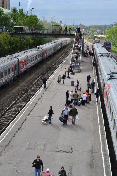 Перрон Мурманского вокзала