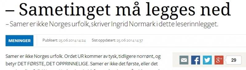 Материал в норвежской газете