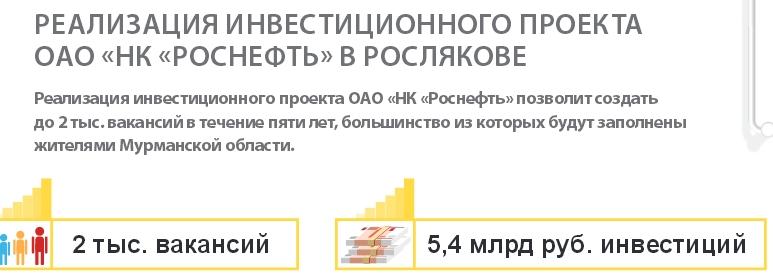 Инвестиционный проект Роснефти в Росляково