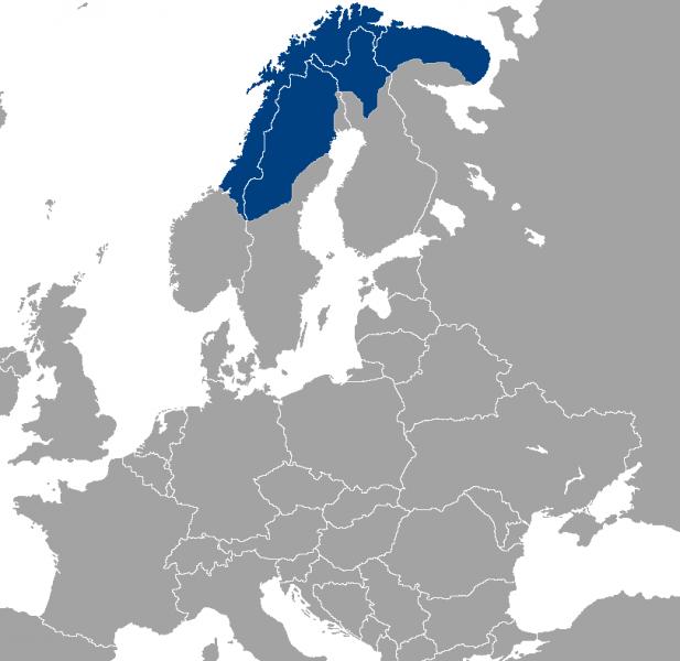 Как может выглядеть карта «Федерации  саамского народа»
