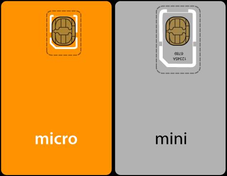 Микро сим и мини сим