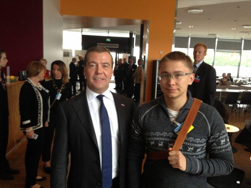 Александр Серебряников с Дмитрием Медведевым
